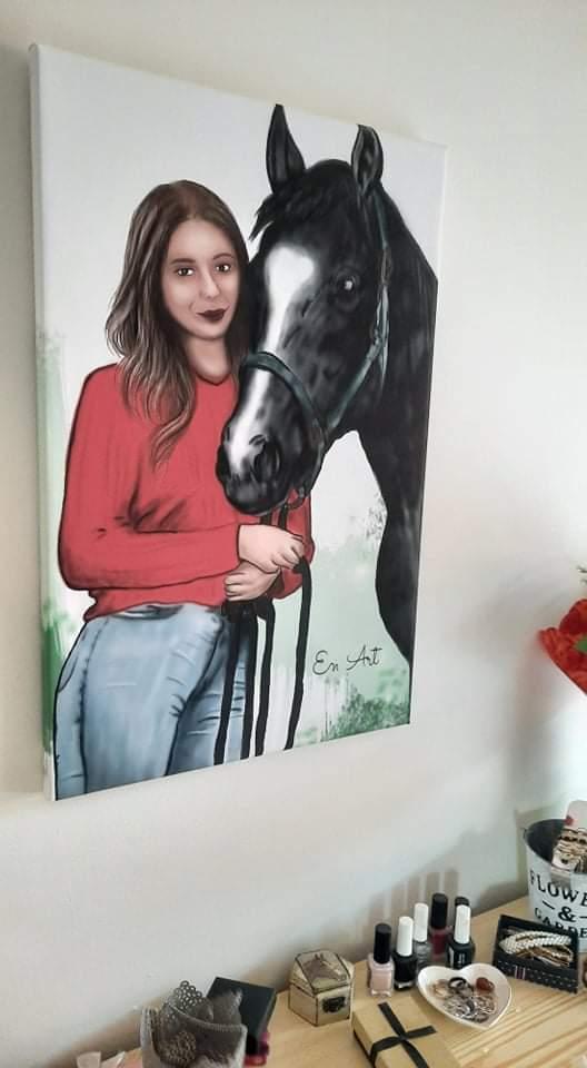 ilustrácia- portrét so zvieraťom