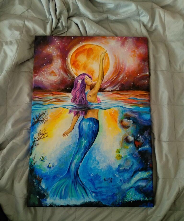 maľba morská panna